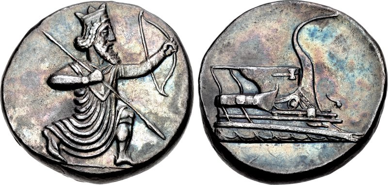 Tetradrachm, Halikarnassos protectorate, Persian empire, 350-333 BC