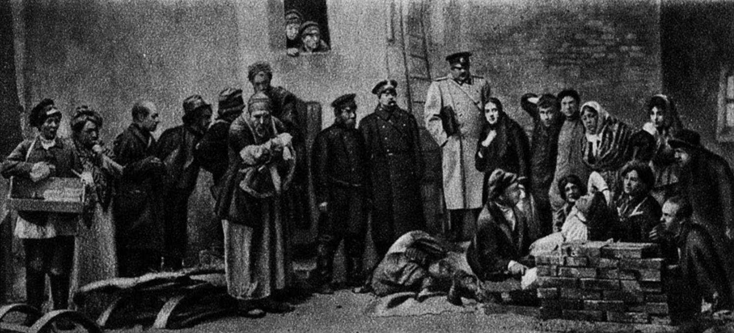File:The Lower Depths-World Premier Moscow 1902-02-Closing scene, act 3.png
