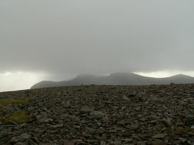 The Nantlle Ridge Range from Mynydd Mawr Summit. - geograph.org.uk - 614790