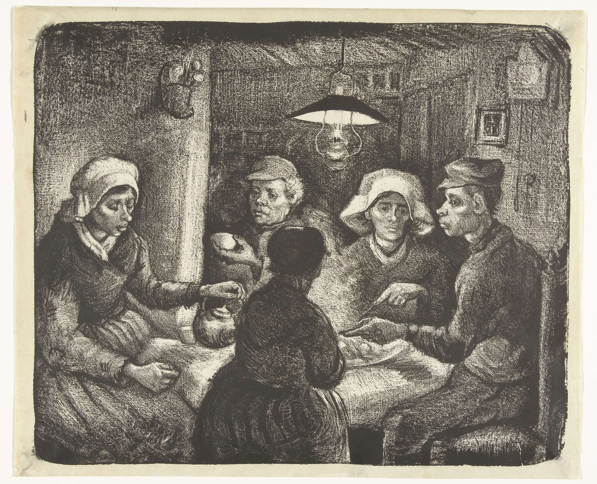 Datei:The Potato Eaters - Lithography by Vincent van Gogh ...