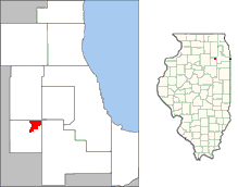Location in the Chicago metropolitan area