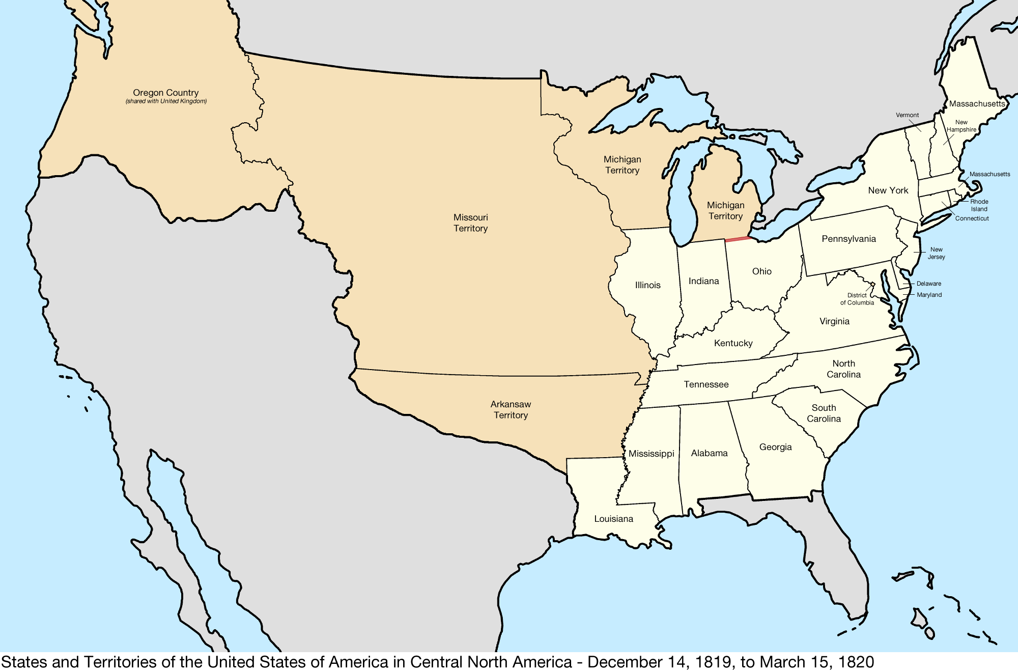 FileUnited States Central map 18191214 to 18200315png
