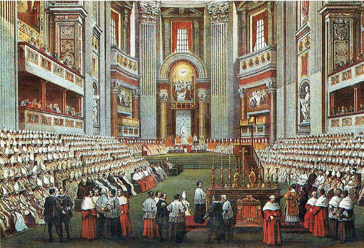 Vatican Painting Pope S Office