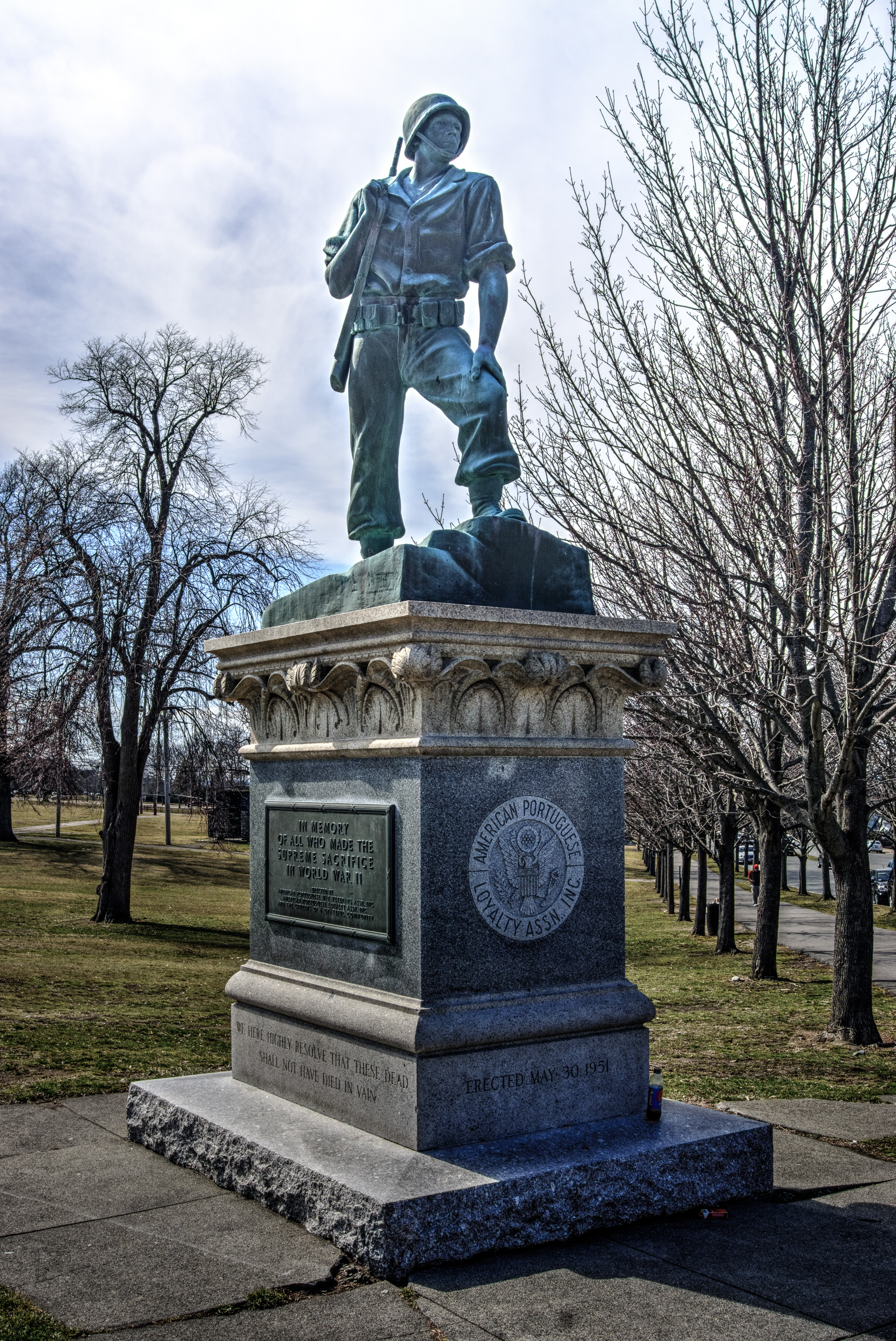 File:WWII memorial at Kennedy Park in Fall River Massachusetts.jpg