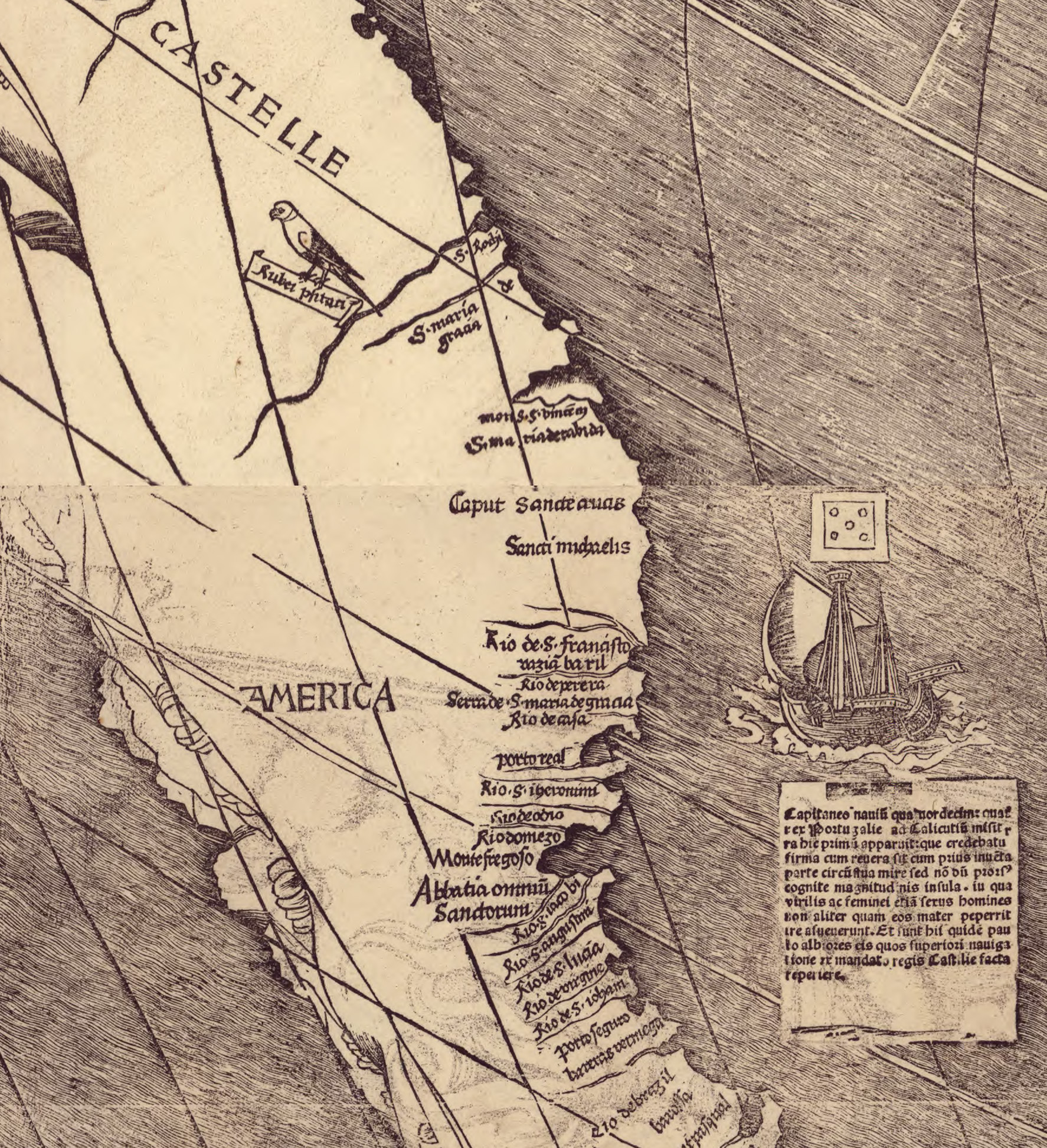 Waldseemuller Map 1507 Full Size
