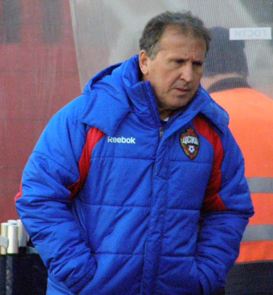 Zico in 2009 as manager of PFC CSKA Moscow