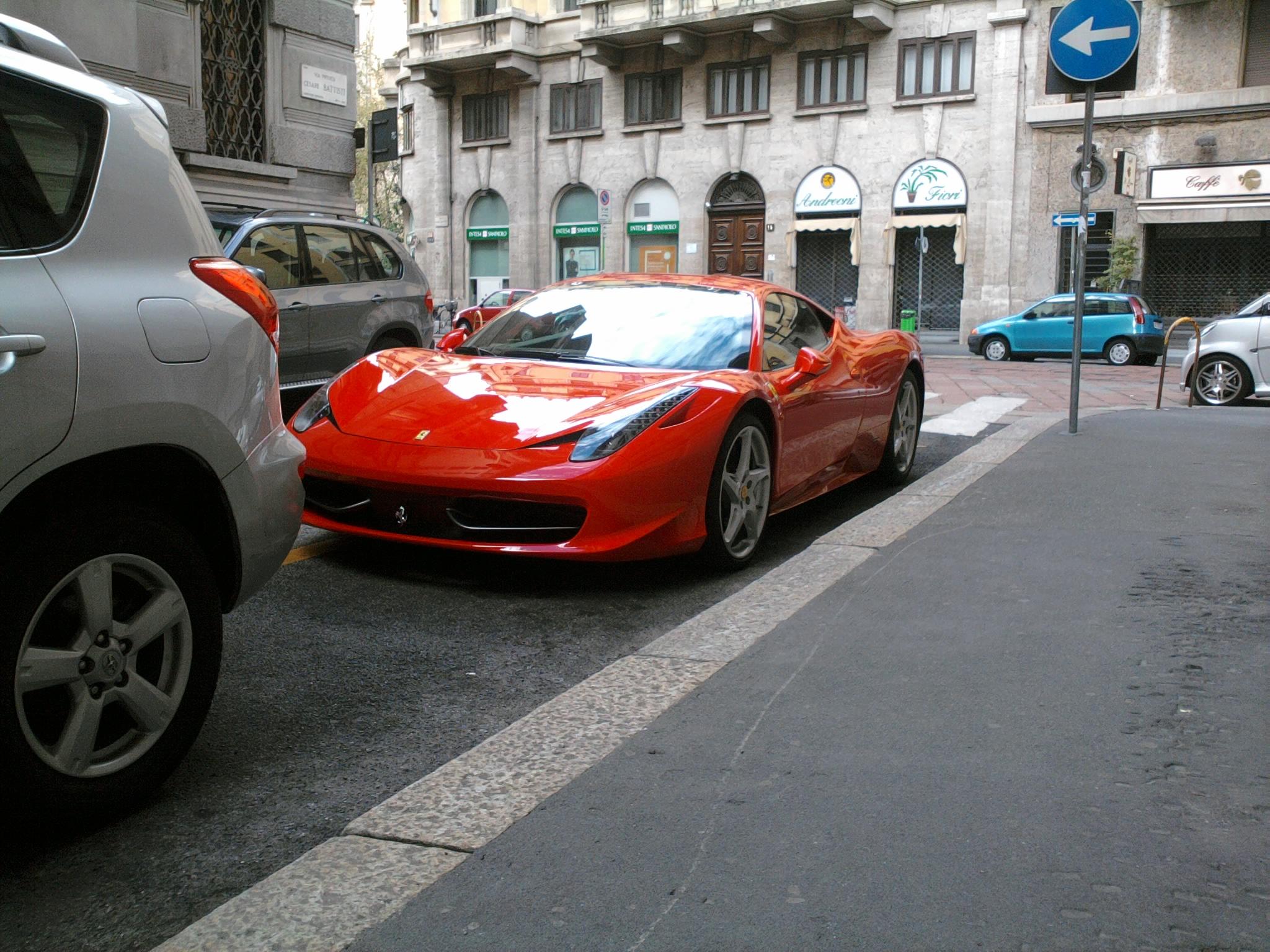 File 10 Italy Ferrari 458 Italia Rossa A Milano 15