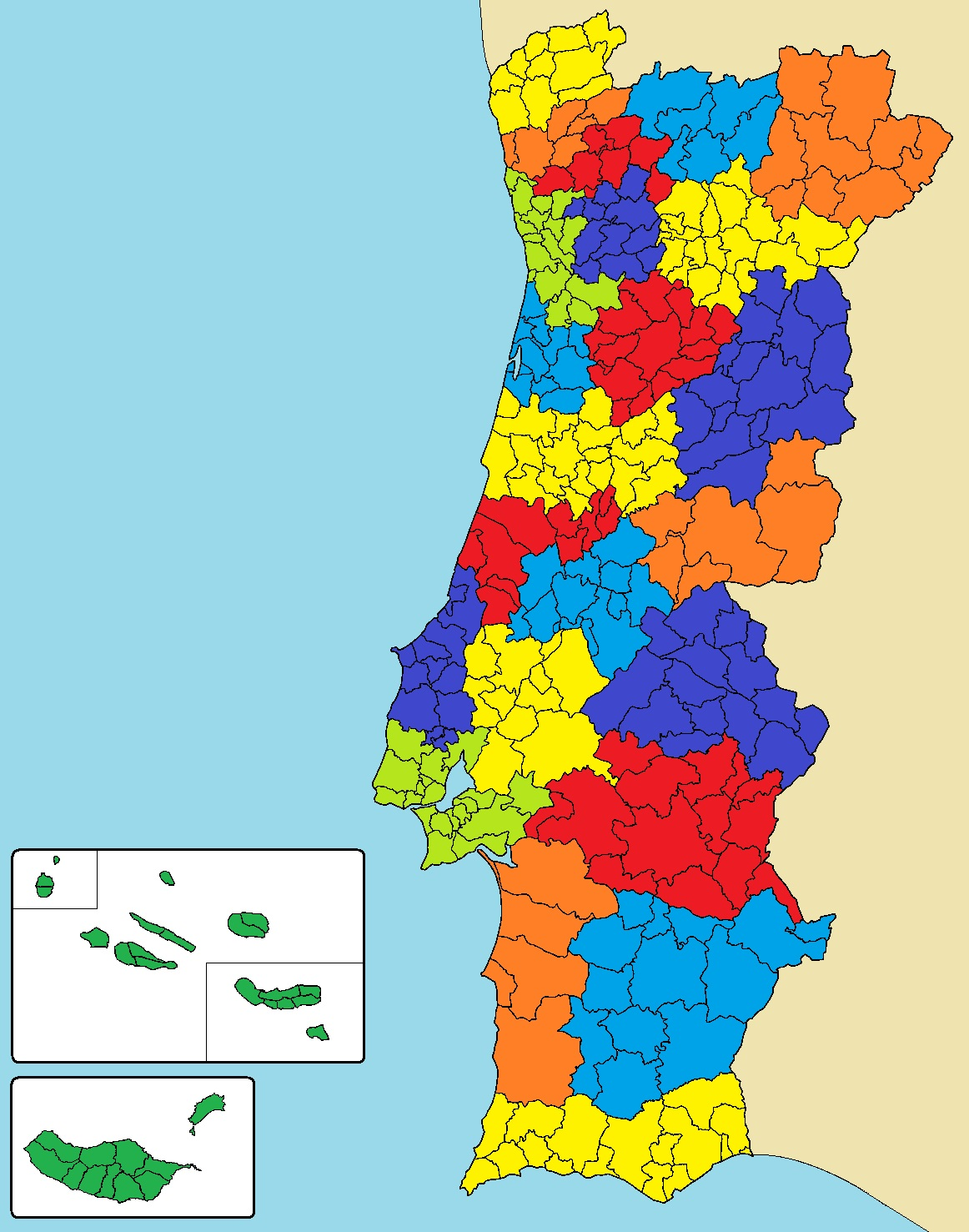 Alto Alentejo Intermunicipal Community Wikipedia - Portugal norte map