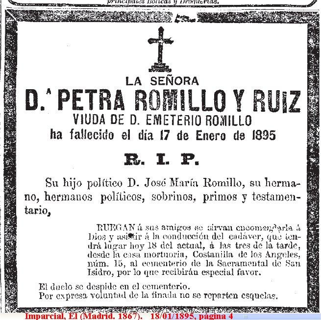 File 1895 01 17 petra romillo ruiz wikimedia for Esquelas funeraria el mueble melide