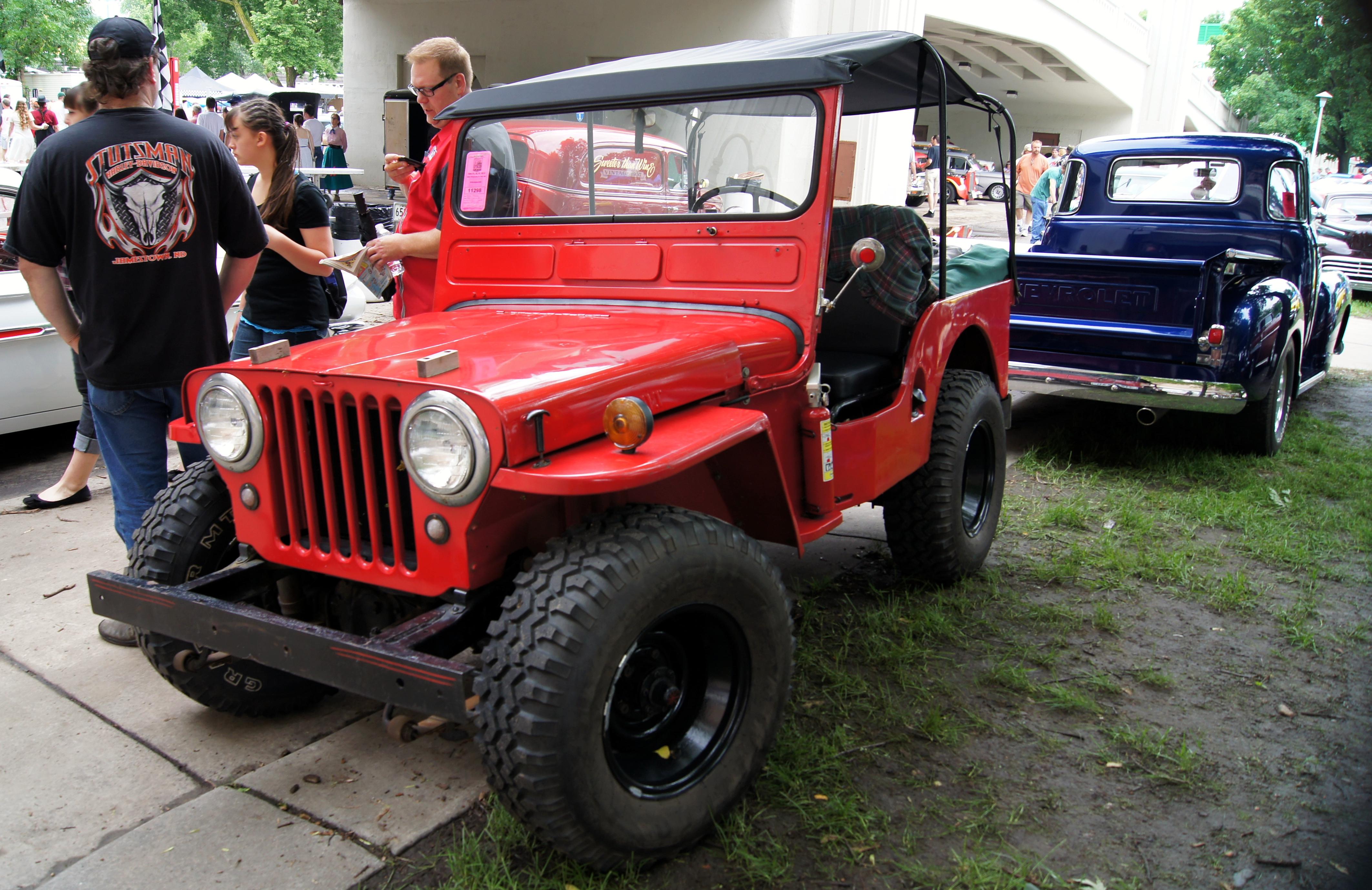 File:49 Willys Jeep CJ3A (9128417681).jpg - Wikimedia Commons