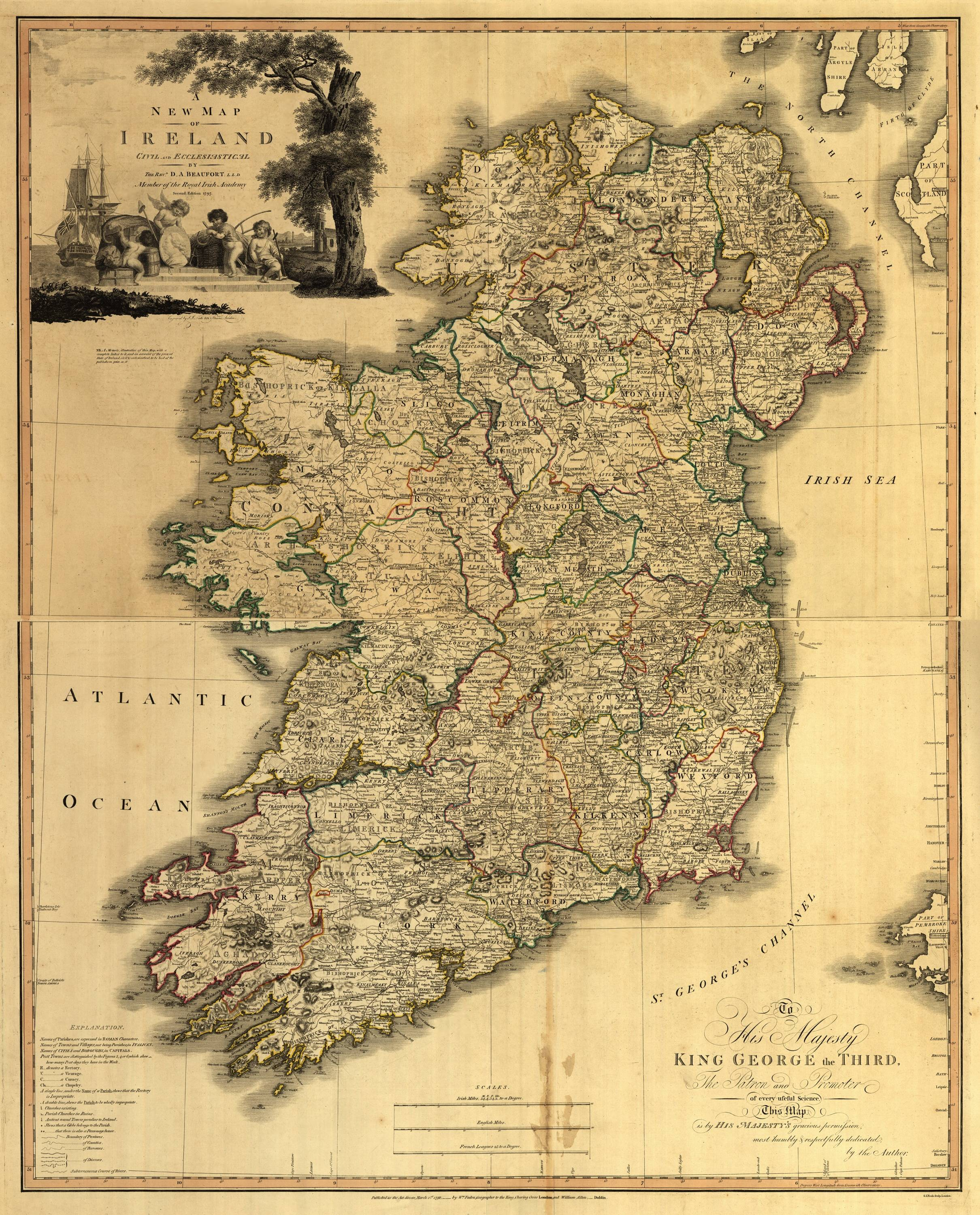 Map Of Ireland Jpg.File A New Map Of Ireland Civil And Ecclesiastical Jpg Wikipedia