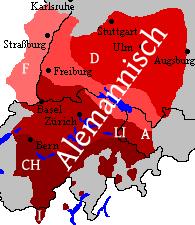 Alemannischer Sprachraum