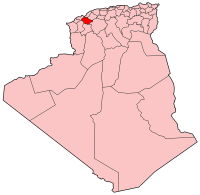 Map of Algeria showing Muaskar province