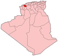 Location of Mascara, Algeria