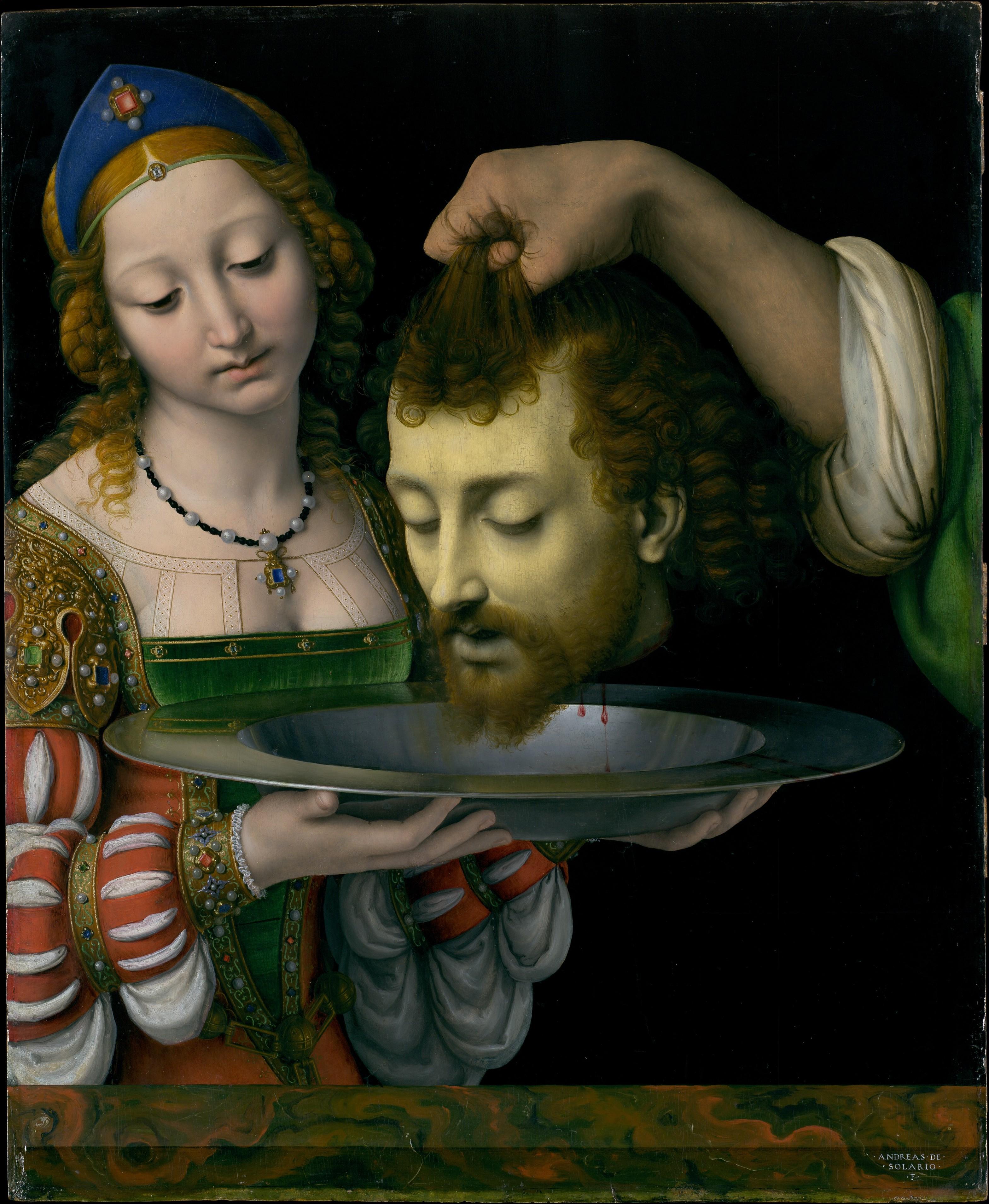 John The Baptist Head On A Platter Painting Andrea Solari Wikipedia