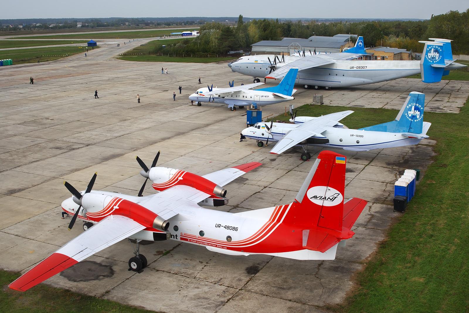 Antonov An-32 P 32 P Ukrainian firekiller Löschflugzeug 1:288 Modell-Bausatz kit