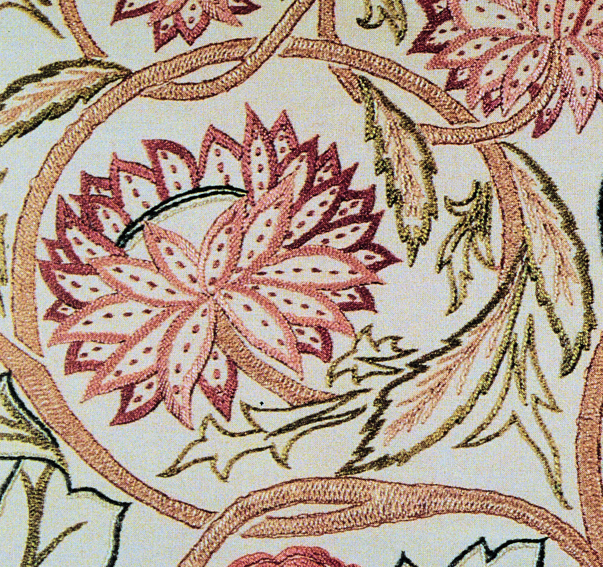 Description Art Needlework Morris Design Detail