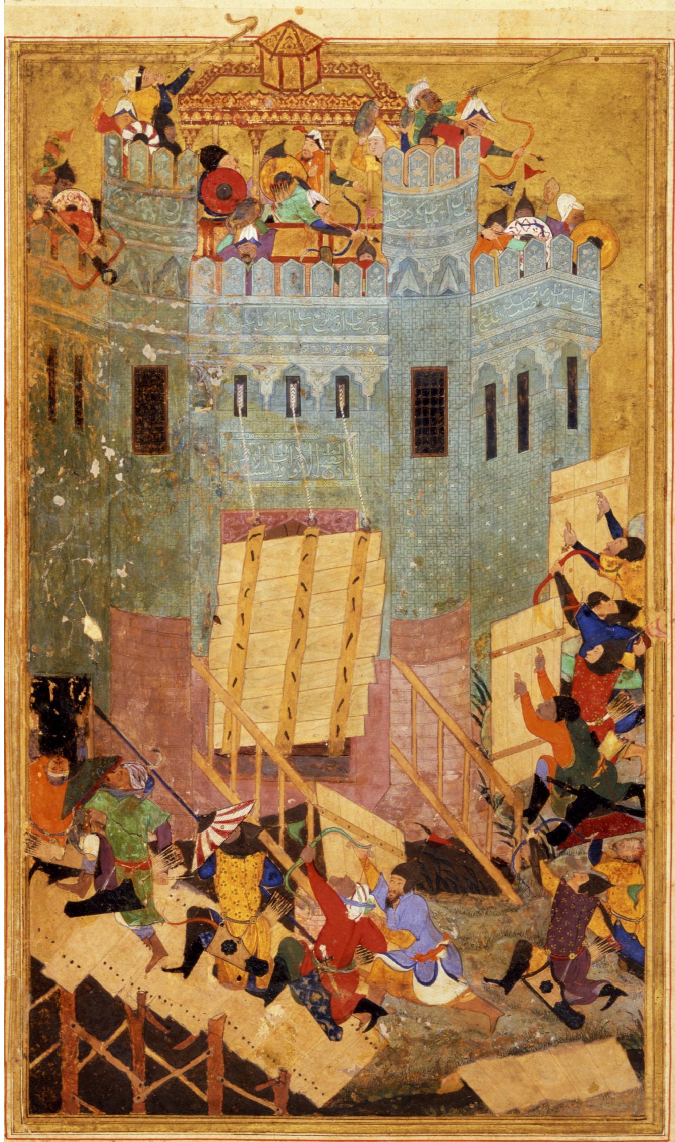 La imagen tiene un atributo ALT vacío; su nombre de archivo es Assault_on_the_Fortress_of_the_Knights_of_St._John_at_Smyrna_%28left%29.jpg