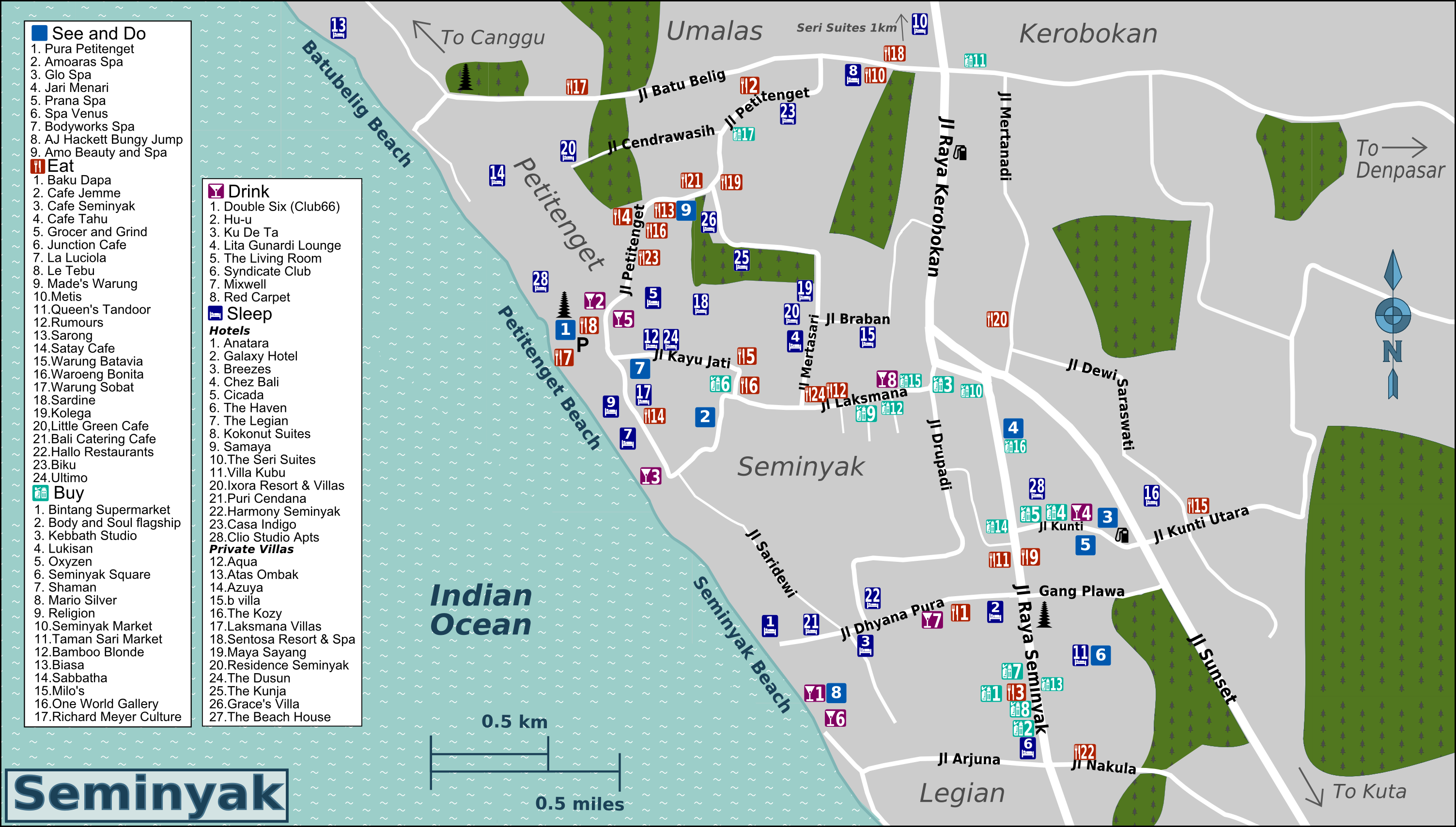 Bali map seminyak check out bali map seminyak cntravel for Bali accommodation seminyak