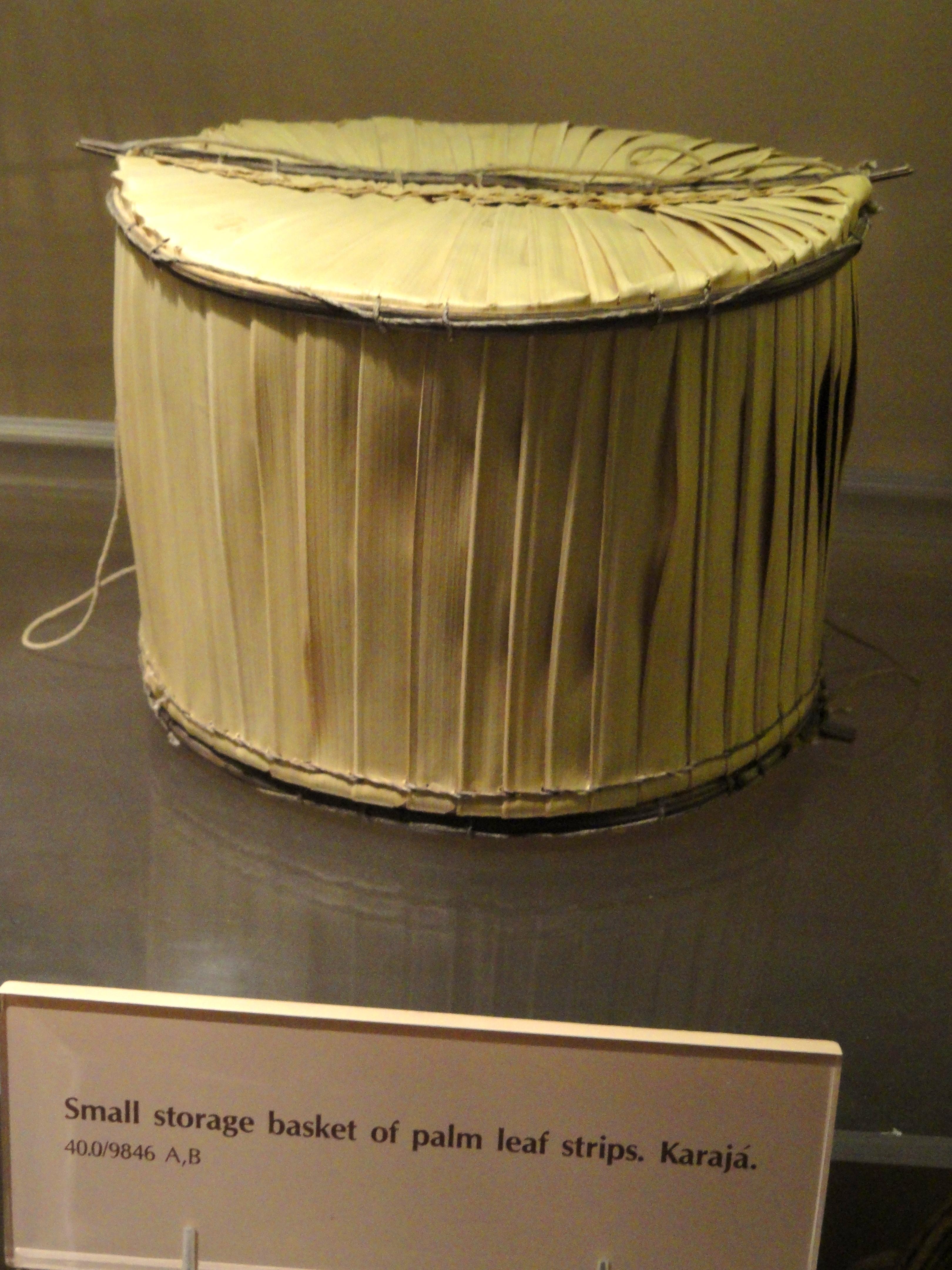 Aparador De Metal Com Tampo De Vidro ~ Ficheiro Basket, palm leaf strips, Karajá AMNH DSC06162 JPG u2013 Wikipédia, a enciclopédia livre