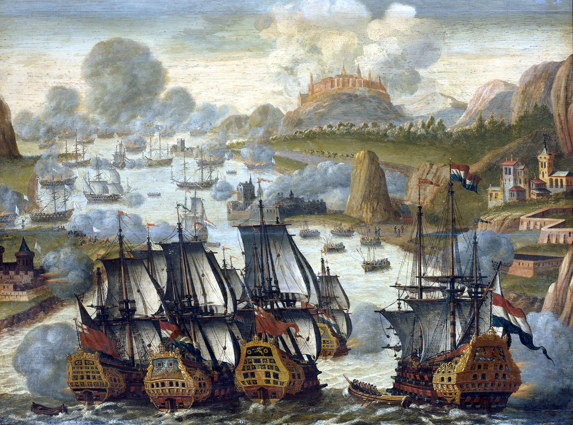 File:Battle of Vigo bay october 23 1702.jpg