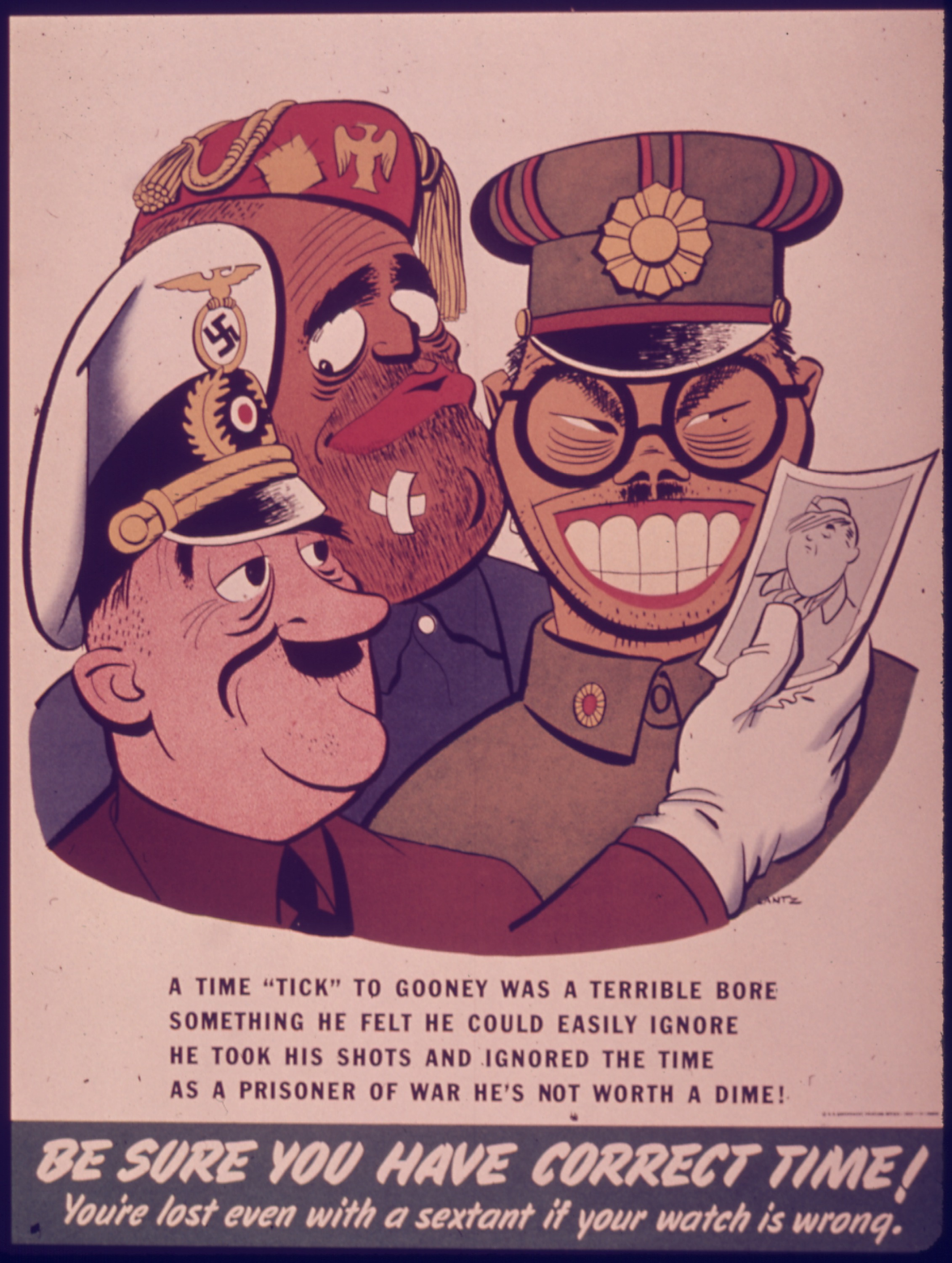 "Image result for ""Be Sure You Have Correct Time"" propaganda poster"