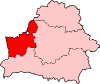 Location of Diocese of Grodno in Belarus