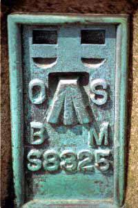 Benchmark op een trigonometrisch punt in Noord-Wales