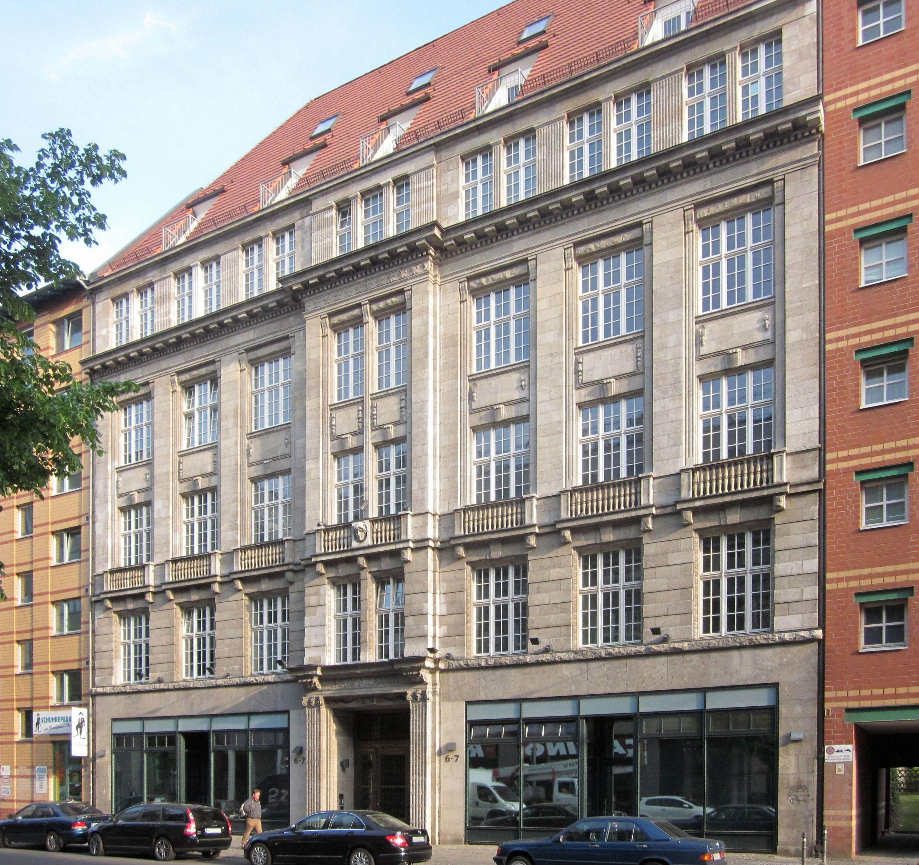 File Berlin Kreuzberg Kochstrasse 6 7 Haus Merkur Jpg Wikimedia