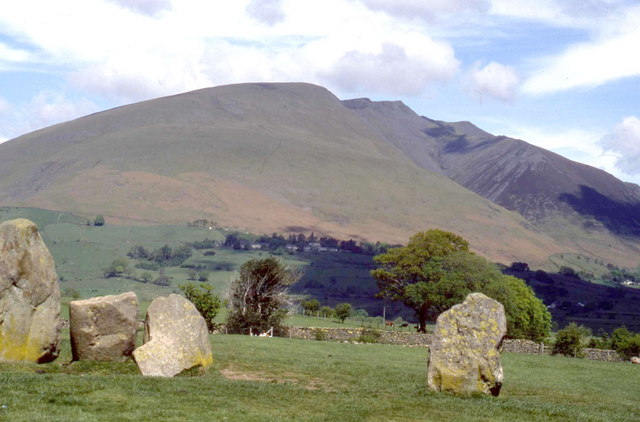 Blencathra from the Castlerigg Stone Circle - geograph.org.uk - 1405926