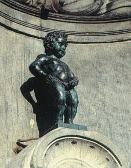 Čůrající chlapeček, jeden ze symbolů Bruselu. Zdroj:wikipedia.cs
