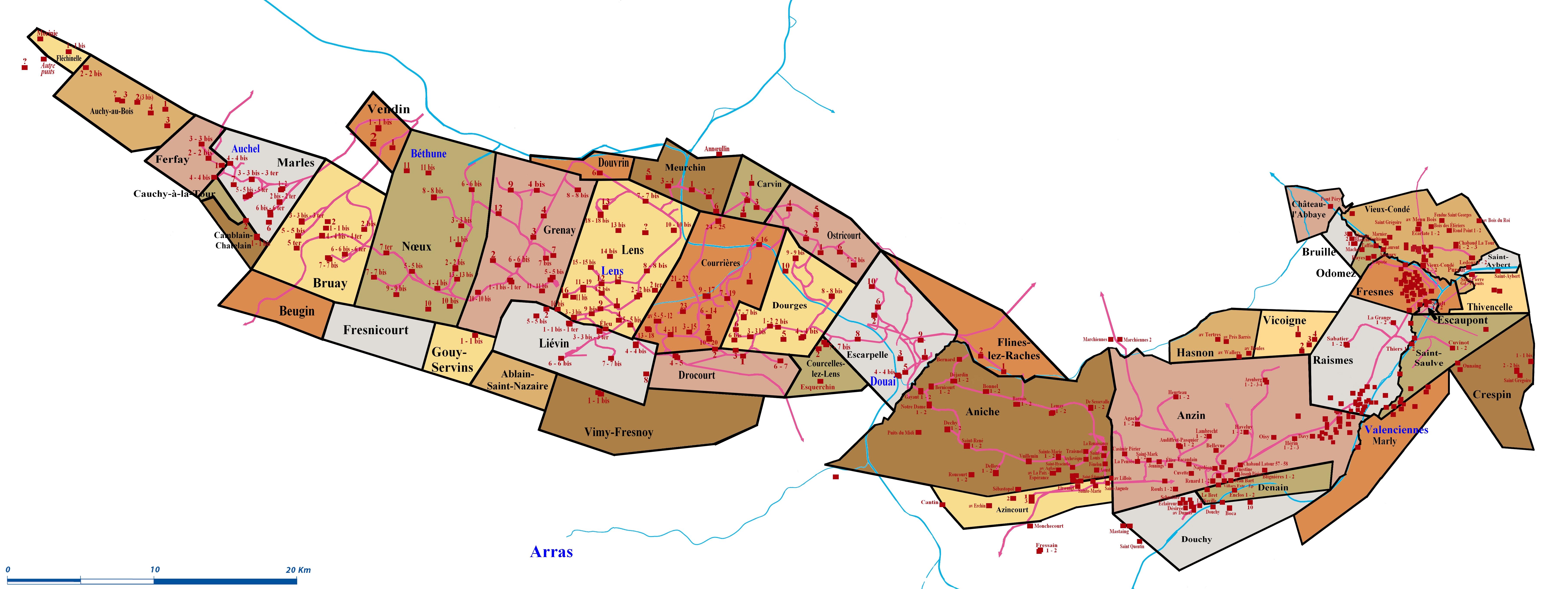 Cherche noms de certaines lignes de chemins de fer ou de cavaliers nord pas de calais - Bassin recreatif ancienne lorette calais ...