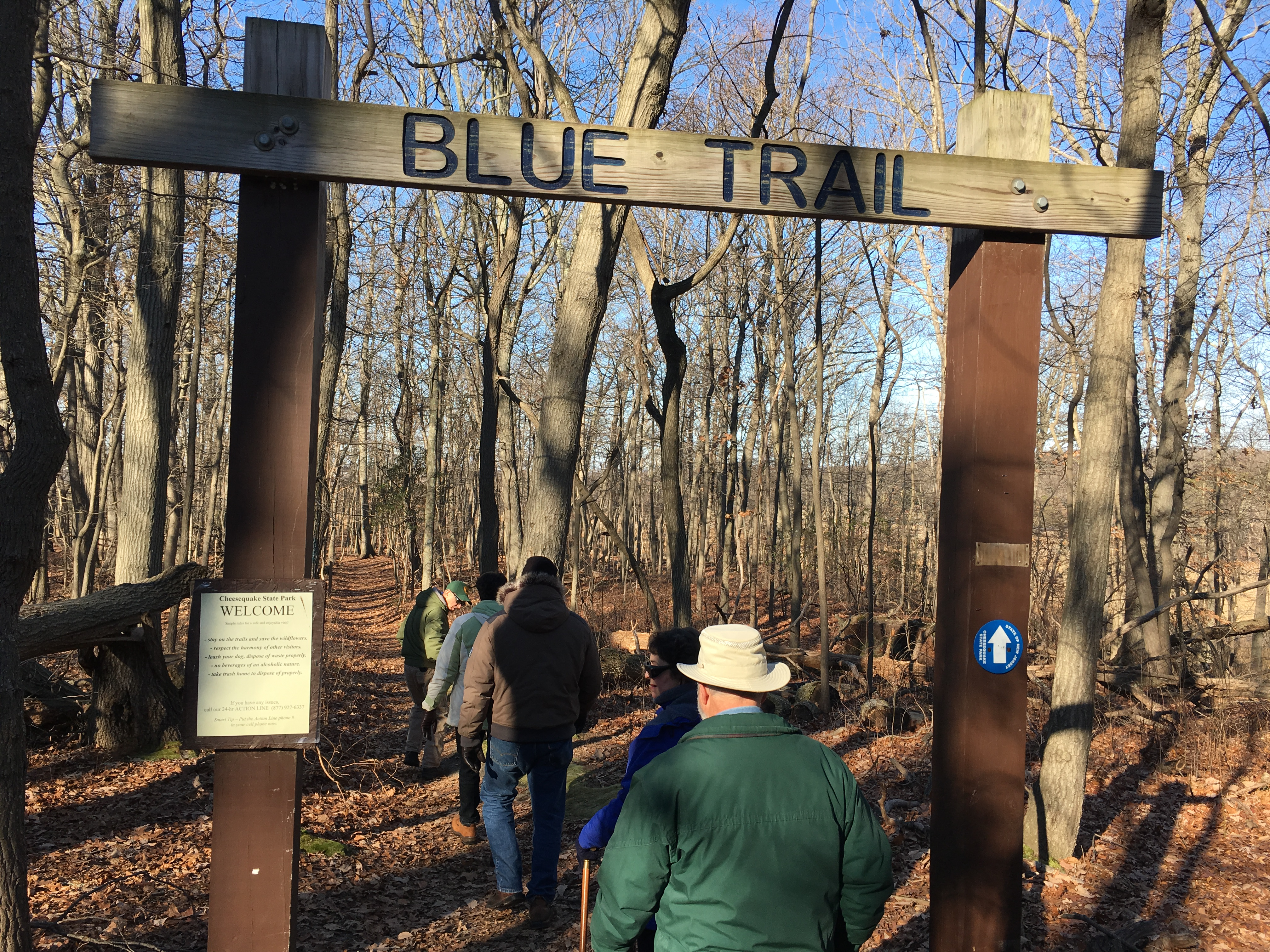 File:Cheesequake State Park entrance to Blue Trail jpg