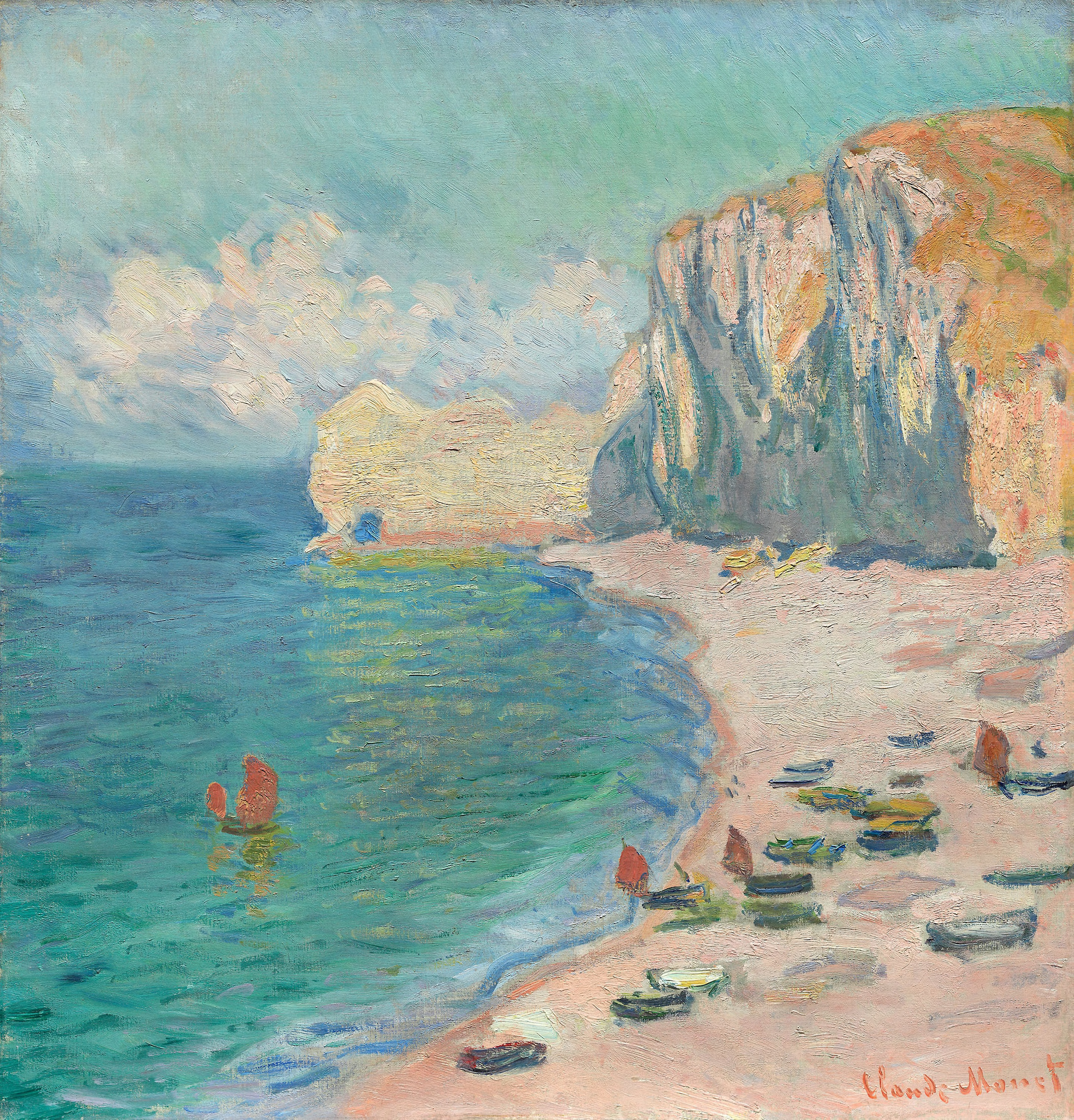 File:Claude Monet - Étretat, The Beach and the Falaise d'Amont - 1964.204 - Art Institute of Chicago.jpg - Wikimedia Commons