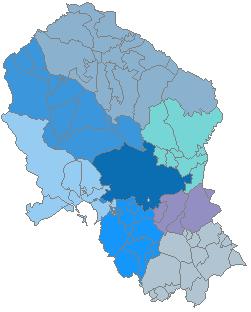 Mapa Pueblos De Cordoba.Anexo Comarcas De La Provincia De Cordoba Espana