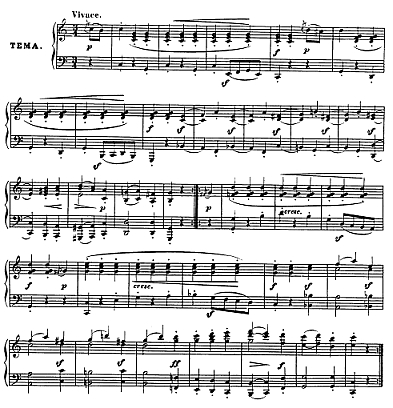Theme of the Variations - Diabelli's Waltz