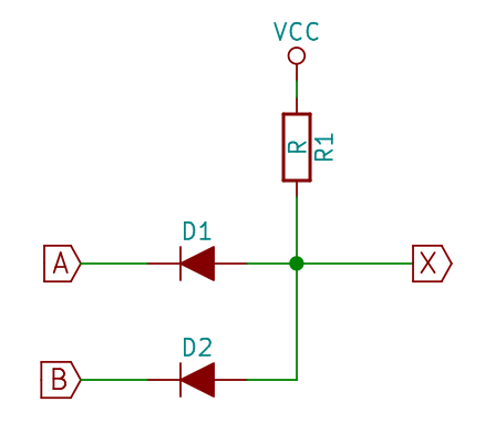 Diode-logic AND gate