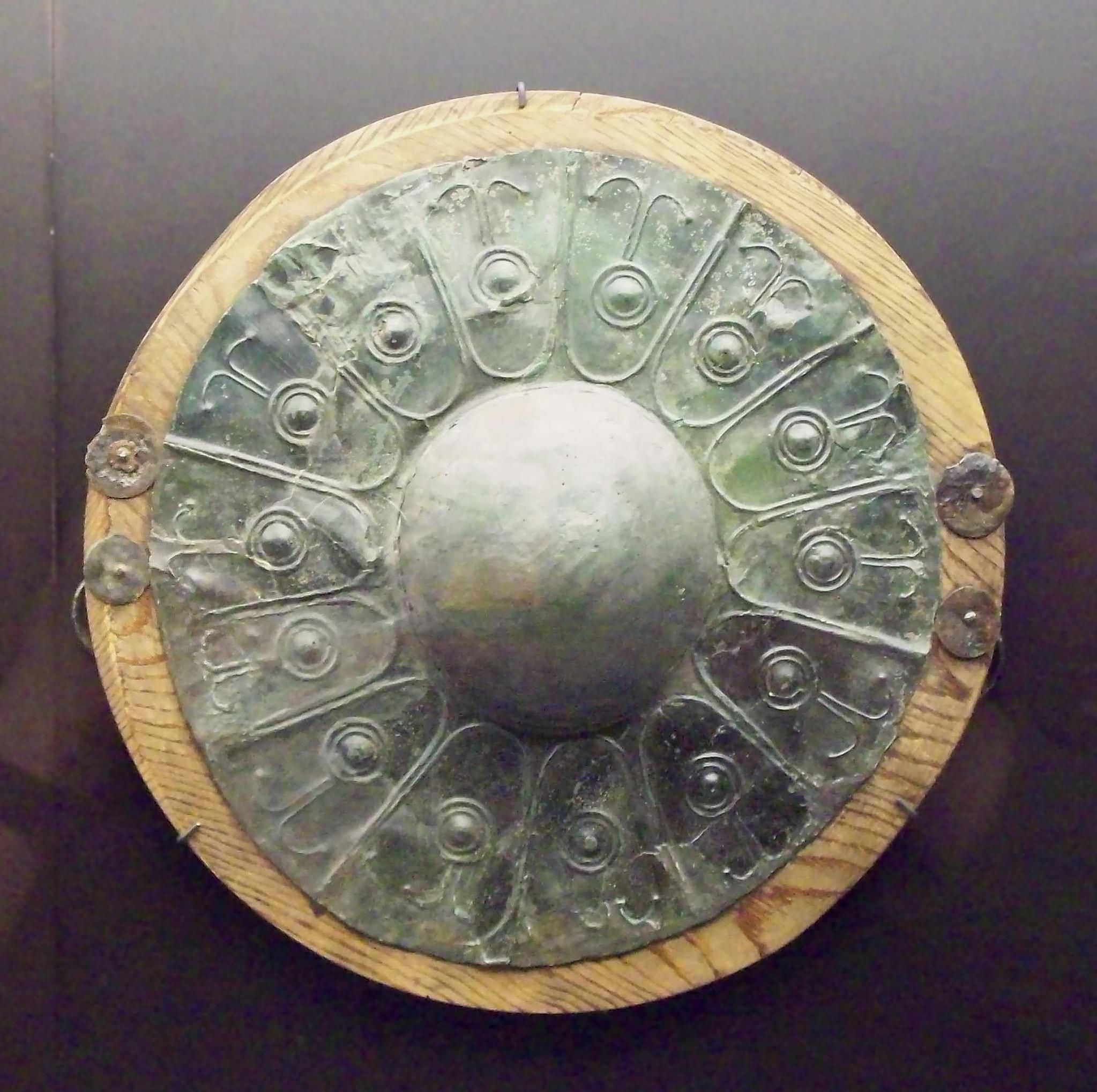 Escudo celtíbero del siglo V o IV a. C.