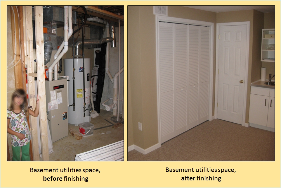 Charming File:Finished Basement   Before And After