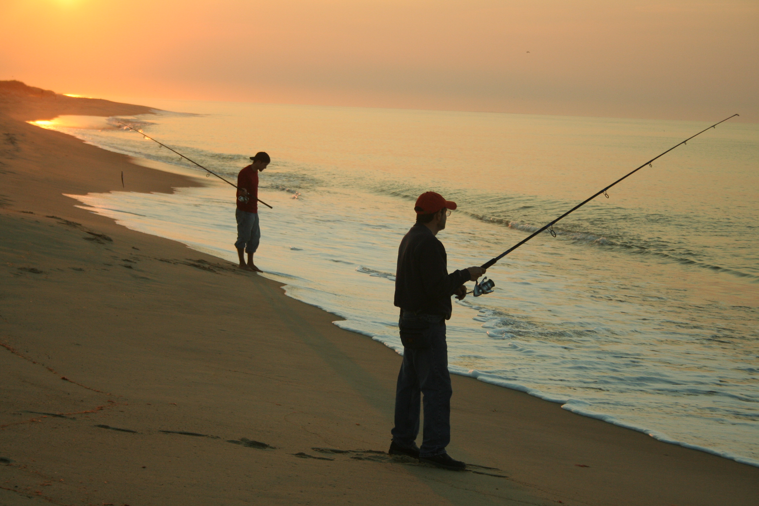 File Fishing South Beach Early Morning Low Tide Katama During Derby On