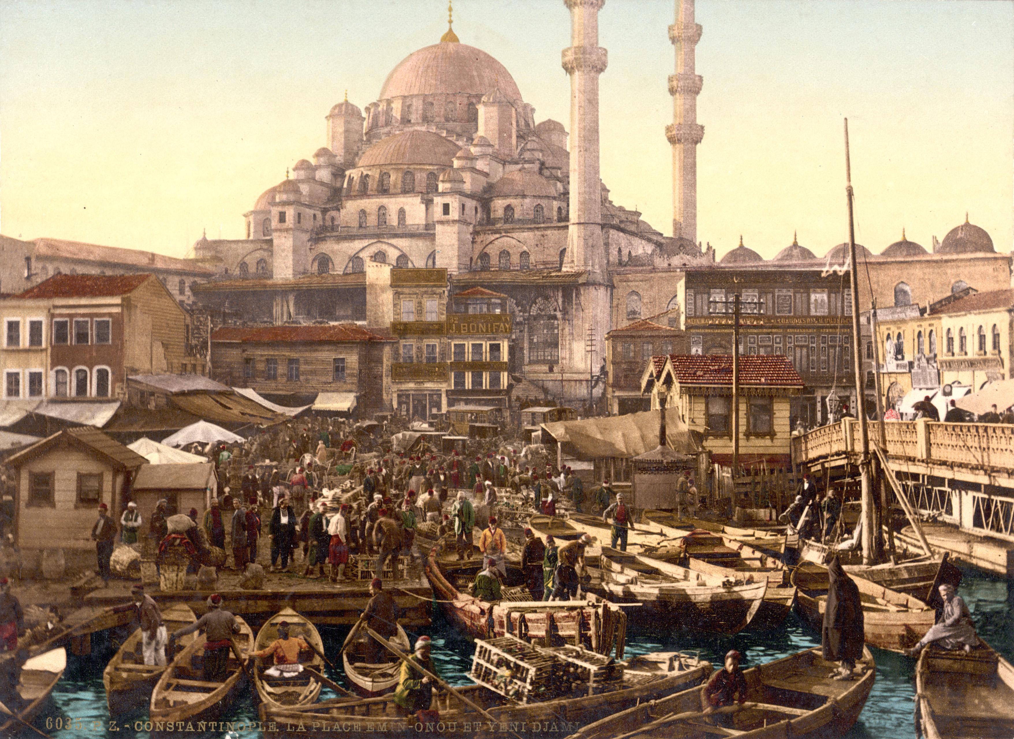 File Flickr -    trialsanderrors - Yeni Cami and Emin  246 n  252  bazaar    Ottoman Turks People