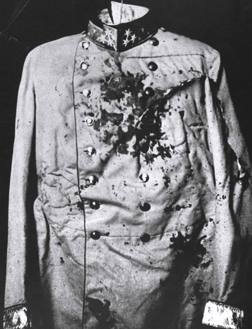 Ferdinand's blood-stained uniform