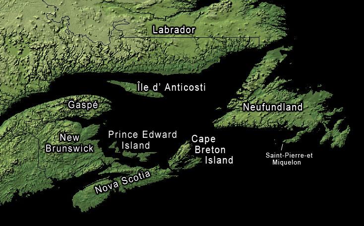 Satellitenaufnahme Gulf of Saint Lawrence