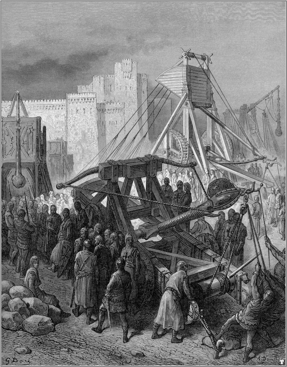 Gustave Doré (1832-1883), The Crusaders war machinery