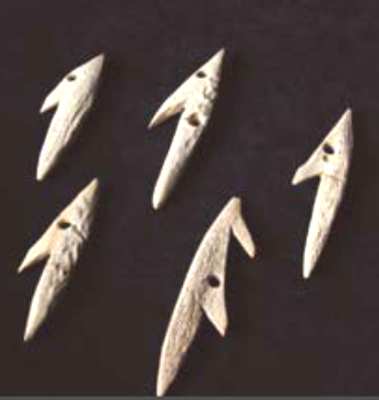 Harpoons made of deer horn between 8300 - 5200 BC Museums of Montenegro