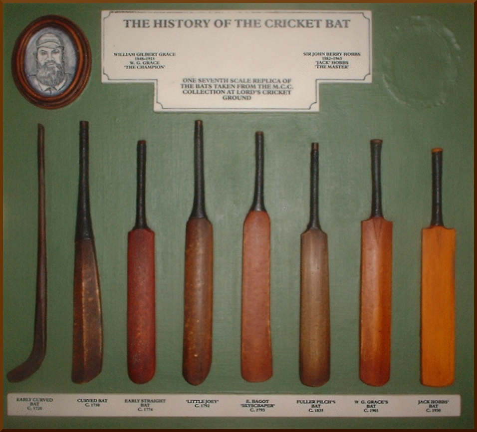 "volutionofthecricketbat.heoriginal""hockeystick""leftevolvedintothestraightbatfromc.1760whenpitcheddeliverybowlingbegan."
