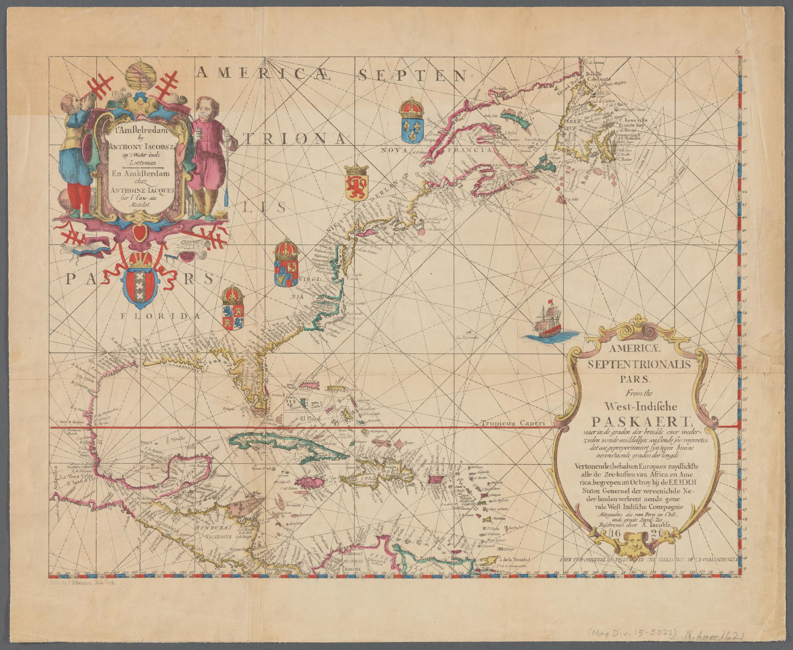 Map of North America, from 1621 Historisch Nordamerika.jpg