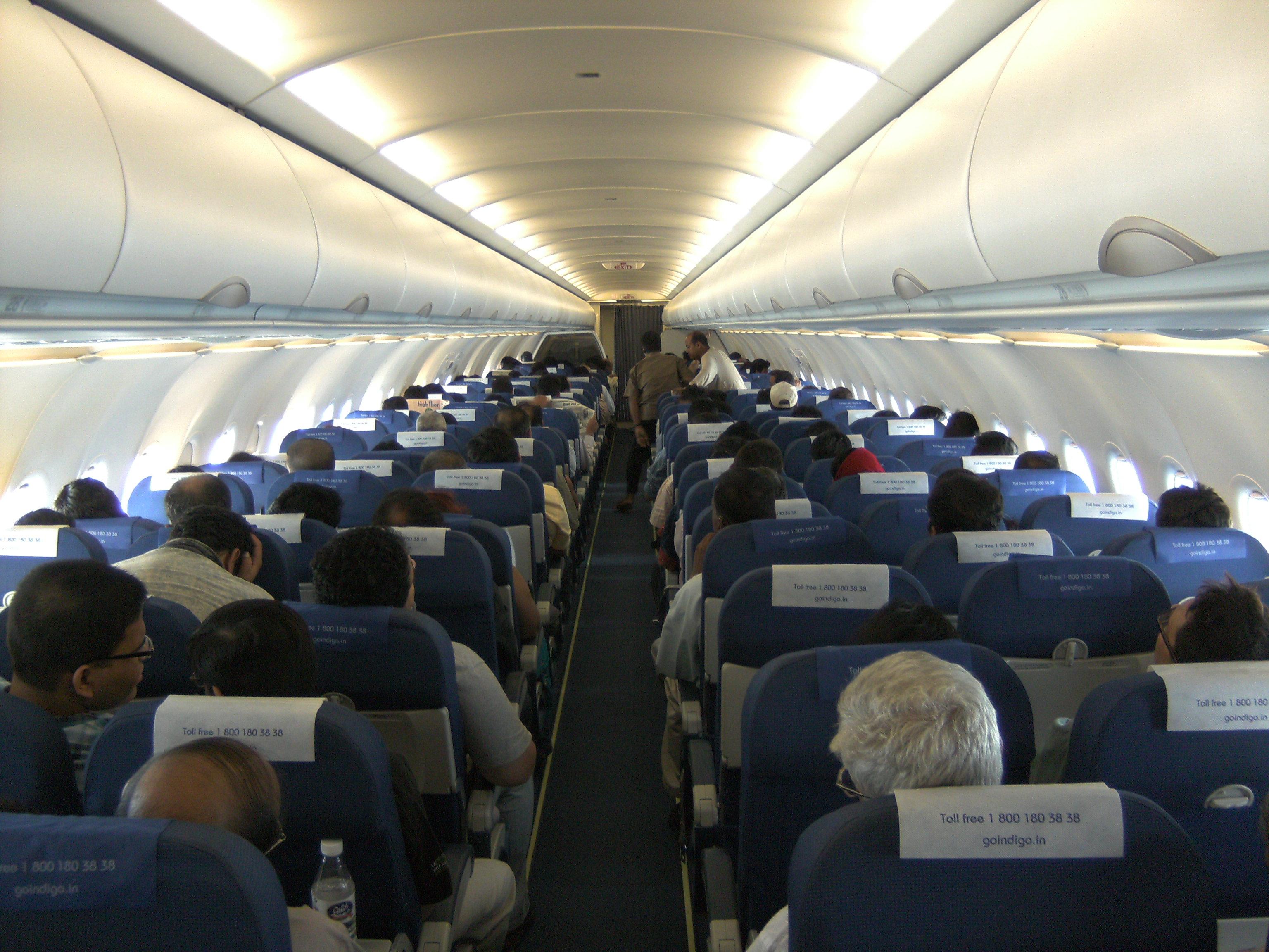 Indigo Airlines Interior