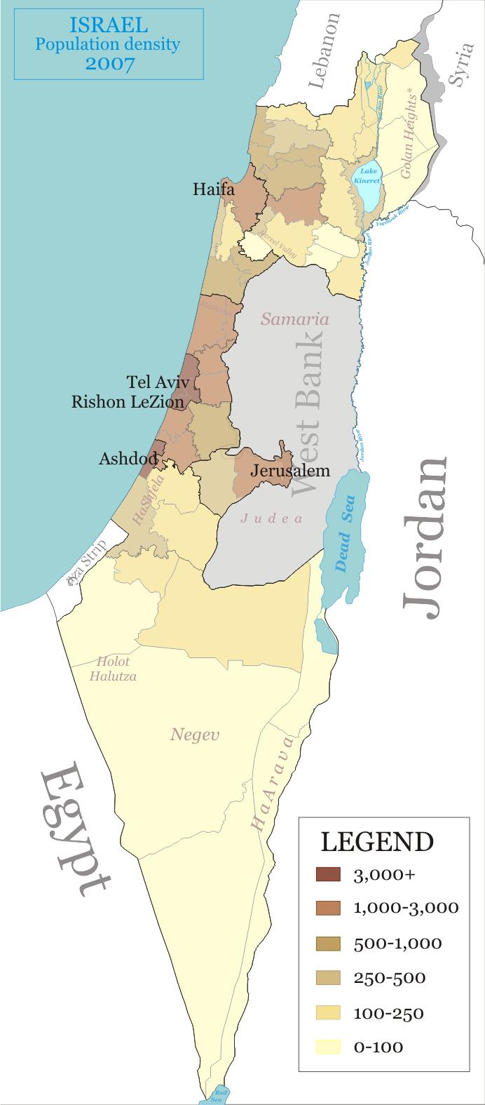 La Población de Israel es de 914.000
