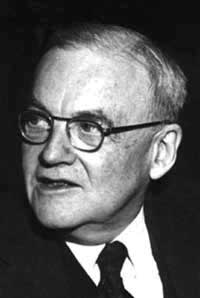 A black white photo of an elderly white man, John Foster Dulles